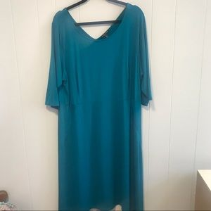 Eileen Fisher Women's turquoise dress